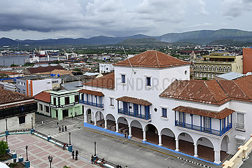 Kuba  Santiago de Cuba- Blick auf das historische Rathaus