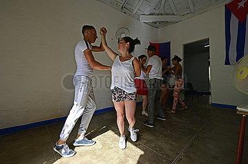 Kuba  Trinidad - Salasa Tanzschule in der Stadt