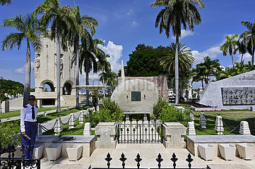 Kuba  Santiago de Cuba- Grab von Fidel Castro auf dem Friedhof Santa Ifigenia