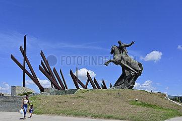 Kuba  Santiago de Cuba- Blick auf das Denkmal Antonio Maceo