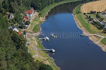 Elbe Ferry in Rathen - Germany
