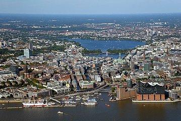 Hamburg Innenstadt von Hafen bis zur Alster