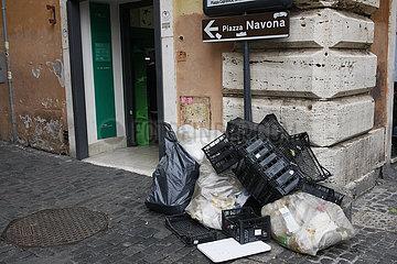 Strassenecke in Rom