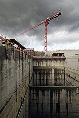 Emscherumbau  Neubau Abwasserkanal Emscher  Pumpwerk Oberhausen  Ruhrgebiet  Oberhausen  Nordrhein-Westfalen  Deutschland