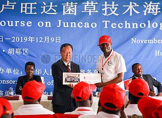 Rwanda-KIGALI-CHINA-JUNCAO TECHNOLOGY-KURS-Schlussfeier