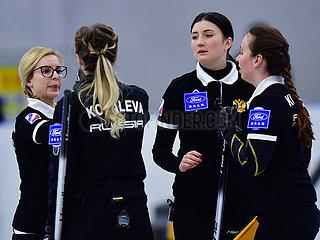 (SP) CHINA-XINING-Curl-INT'L ELITE 2019-Damen-FINAL-Russia hat Südkorea (CN)
