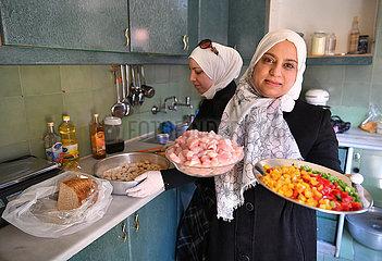 SYRIEN-DAMASKUS-DANIA-Küche SYRIEN-DAMASKUS-DANIA-Küche