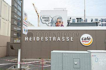 Berlin  Deutschland  Tankstelle an der Heidestrasse in der Europacity in Moabit