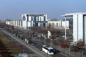 Berlin  Deutschland  Blick auf das Bundeskanzleramt