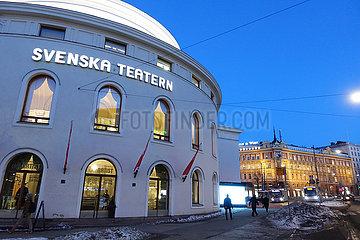 Helsinki  Finnland  das Schwedische Theater