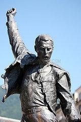 Montreux  Schweiz  Statue von Saenger Freddie Mercury