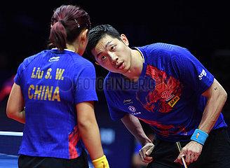 (SP) CHINA-ZHENGZHOU-TABLE TENNIS-ITTF Pro Tour Grand Finals mischten DOUBLES (CN)
