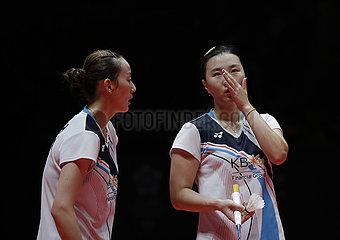 (SP) CHINA-GUANGZHOU-Badmintonset BWF World Tour-Finale-Damendoppel (CN)