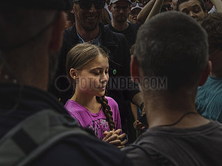 Greta Thunberg attends Berlin Fridays for Future protests