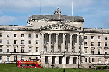 Grossbritannien  Belfast - Stormont Castle  Sitz der Nordirland-Versammlung und Regierung Nordirlands - ab Januar 2017 suspendiert.