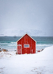 Red house in Stunning Norway