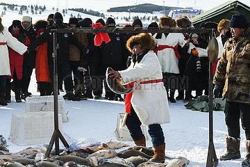 CHINA-INNER MONGOLIA-Hulun-NUOGAN LAKE-EISANGELN (CN)