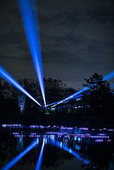 US--Lisle-THE MORTON ARBORETUM-TREE LIGHTS