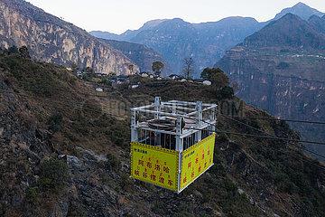 CHINA-SICHUAN-CLIFF-VILLAGE-ROAD CONSTRUCTION (CN)