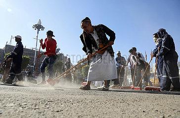 JEMEN-SANAA-NEW YEAR-CLEANING CAMPAIGN JEMEN-SANAA-NEW YEAR-CLEANING CAMPAIGN