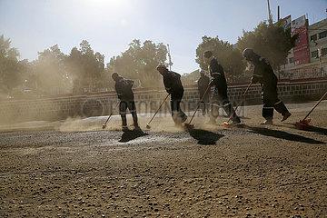 JEMEN-SANAA-NEW YEAR-CLEANING CAMPAIGN