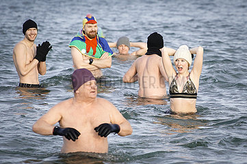 POLEN-DANZIG-NEW YEAR BATHING