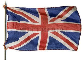 alte kleine britische Flagge  Souvenir  1969