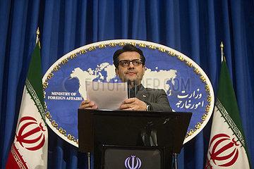 IRAN-TEHERAN-FM SPRECHER-PRESSEKONFERENZ