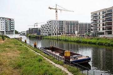 Berlin  Deutschland  Neubauwohnungen entlang des Kanals in Moabit