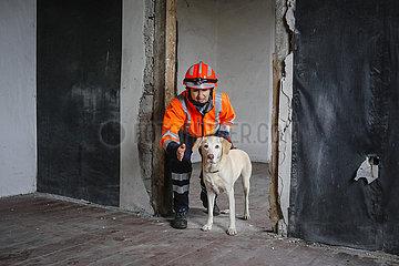 Rettungshunde-Ausbildung  Herne  Nordrhein-Westfalen  Deutschland