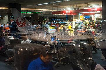 Tokio  Japan  Passagiermaschine der Japan Airlines am Flughafen Narita