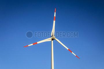 Windrad  Juechen  Nordrhein-Westfalen  Deutschland
