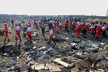 (SPOT NEWS) IRAN-TEHERAN-Ukrainischen Passagierflugzeug-CRASH