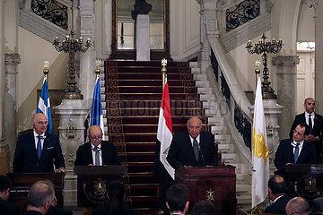 ÄGYPTEN-KAIRO-vier Länder'FMS-PRESSEKONFERENZ