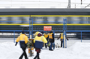 CHINA-CHANGCHUN-SPRING FEST TRAVEL Binsen RAILWAY-Arbeiter (CN)