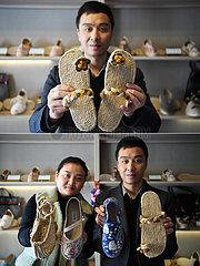 CHINA-GANSU-HEMP SHOE-COUPLE-Business (CN)
