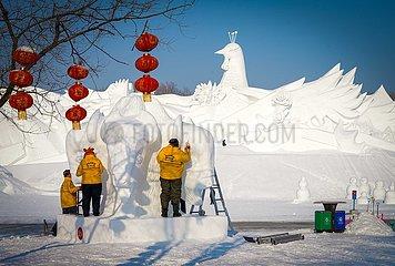 CHINA-HEILONGJIANG-HARBIN-SNOW BILDHAUEREI KONKURRENZ-ABSCHLUSS (CN)