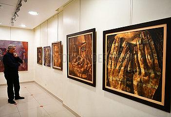 SYRIEN-DAMASKUS-ARTIST-MALEREI-KRIEG