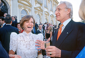 Edmund Stoiber  Ministerpraesident  Fuerstin Gloria von Thurn und Taxis  1997