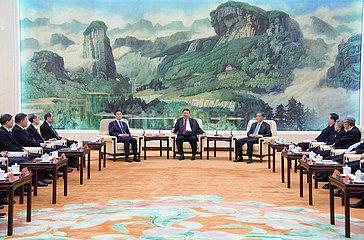 CHINA Beijing-XI jinping-NON-KOMMUNIST PARTIES-PERSÖNLICHKEITEN-SPRING FEST-Gruß (CN)