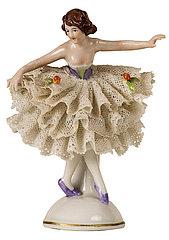Ballerina  kleine Porzellanfigur  1956