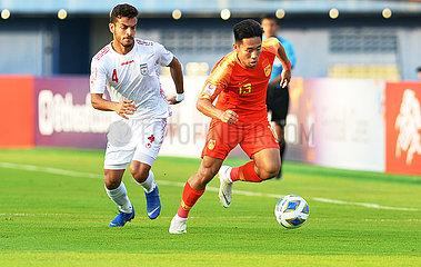 (SP) THAILAND-SONGKHLA-FOOTBALL-AFC U23 CHAMPIONAT-CHN VS IRA (SP) THAILAND-SONGKHLA-FOOTBALL-AFC U23 CHAMPIONAT-CHN VS IRA