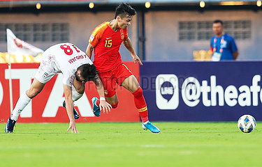 (SP)THAILAND-SONGKHLA-FOOTBALL-AFC U23 CHAMPIONSHIP-CHN VS IRA