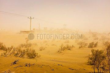 Sandsturm im Zentral-Iran | sandstorm in central Iran