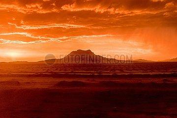 Iran  Wüstenlandschaft im Abendlicht   Iran  desert landscape in the evening light