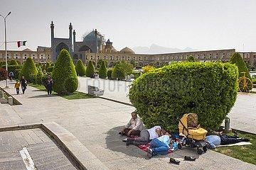 Isfahan Iran Königsplatz mit Königsmoschee | Isfahan Iran Königsplatz with royal mosque