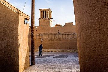 Straßenszene in der Altstadt von Yazd | street scene in the old town of Yazd