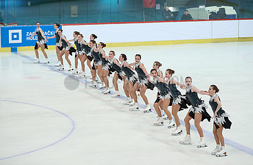 (SP) KROATIEN-ZAGREB-synchronisierter Eislauf-16TH ZAGREB SCHNEEFLOCKEN TROPHY