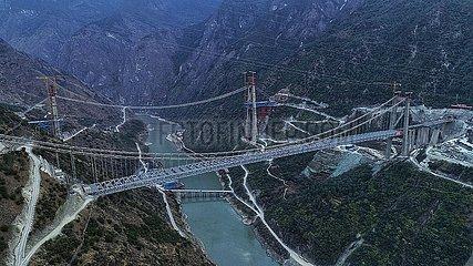 CHINA-YUNNAN-Jinsha BRIDGE-CONSTRUCTION (CN)