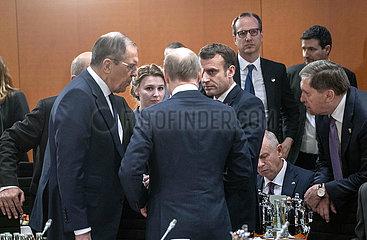 Lawrow + Putin + Macron